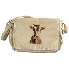 Watercolor Goat Farm Animal Messenger Bag
