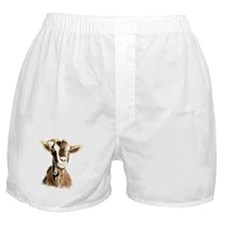 Watercolor Goat Farm Animal Boxer Shorts