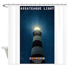 Assateague Light. Shower Curtain