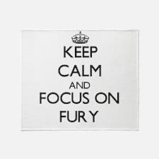 Funny Fury Throw Blanket