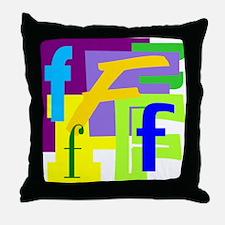 Initial Design (F) Throw Pillow