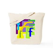 Initial Design (F) Tote Bag
