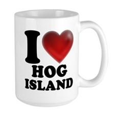 I Heart Hog Island Mugs