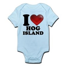 I Heart Hog Island Body Suit