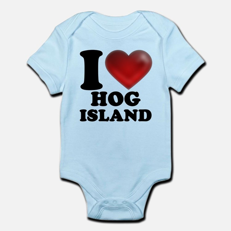 I Heart Hog Island Body Suit