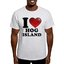 I Heart Hog Island T-Shirt