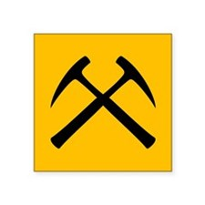 "Cute Yellow hammer Square Sticker 3"" x 3"""