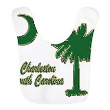 Charleston Green and gold Bib
