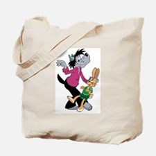 Wolf and Hare Dancing Tote Bag