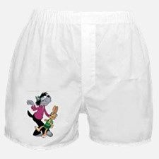 Wolf and Hare Dancing Boxer Shorts