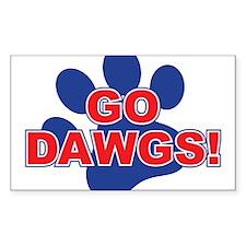 Go Dawgs Paw Print Decal
