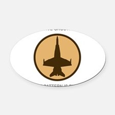 ghost5.png Oval Car Magnet