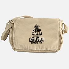Keep Calm and Let Steven Handle It Messenger Bag
