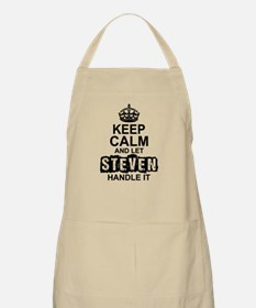Keep Calm and Let Steven Handle It Apron