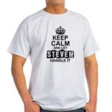 Keep calm and let steven handle it Mens Light T-shirts