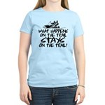 What Happens on the Trail... Women's Light T-Shirt
