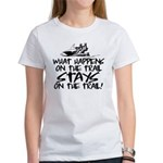 What Happens on the Trail... Women's T-Shirt