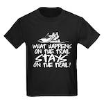 What Happens on the Trail... Kids Dark T-Shirt