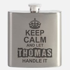 Keep Calm and Let Thomas Handle It Flask