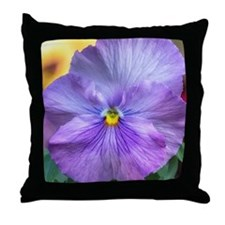 Lavender Pansy Throw Pillow