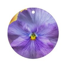 Lavender Pansy Ornament (Round)