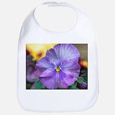 Lavender Pansy Bib
