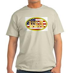 Patriotic USA Ash Grey T-Shirt
