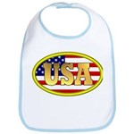 Patriotic USA Bib