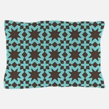 Spring Summer Mod Abstract Floral Geom Pillow Case