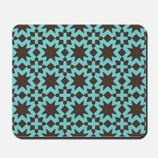 Spring Summer Mod Abstract Floral Geomet Mousepad