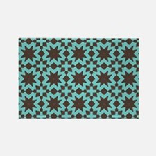 Spring Summer Mod Abstract Floral Rectangle Magnet
