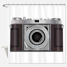Retro Camera Shower Curtain