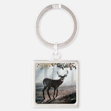 Misty Morning Square Keychain