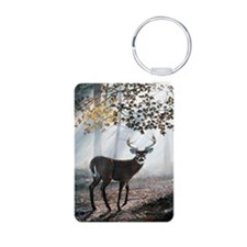Misty Morning Aluminum Photo Keychain