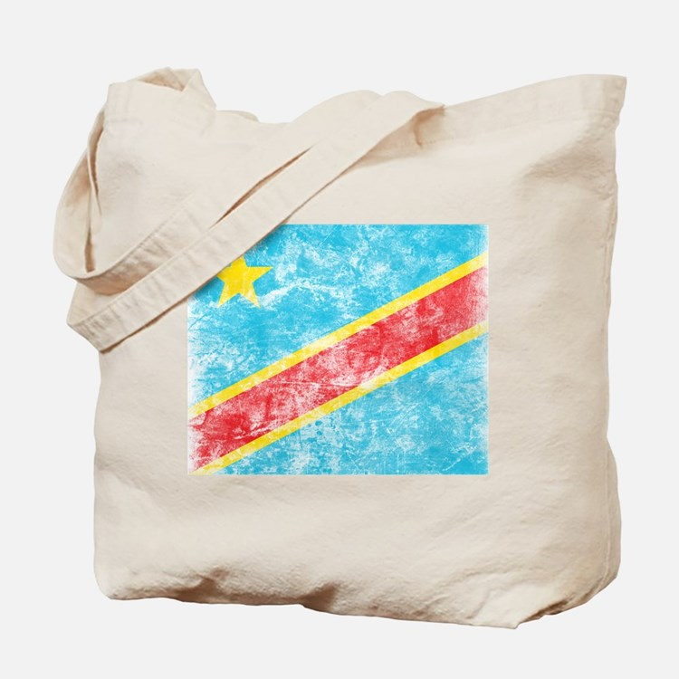 Vintage Congo Flag Tote Bag
