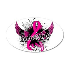 Surviving Since 2007 Breast 20x12 Oval Wall Decal