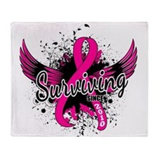 Surviving Since 2010 Breast Cancer Throw Blanket