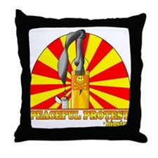 Peaceful Protest by CMVernon Throw Pillow