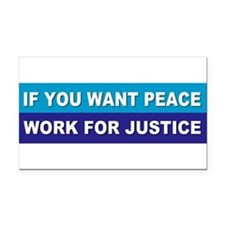 Cute Justice Rectangle Car Magnet