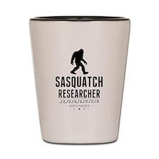 Sasquatch Researcher Shot Glass