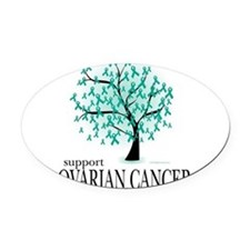 Cute Support ovarian cancer Oval Car Magnet