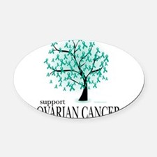 Cute Ovarian cancer awareness Oval Car Magnet