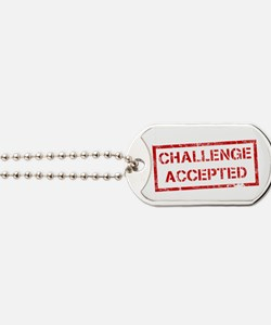Challenge-Accepted Dog Tags