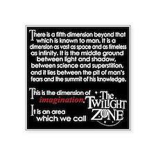 "Twilight Zone Square Sticker 3"" x 3"""