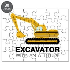 Excavator With An Attitude Puzzle