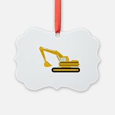 Excavator Ornament