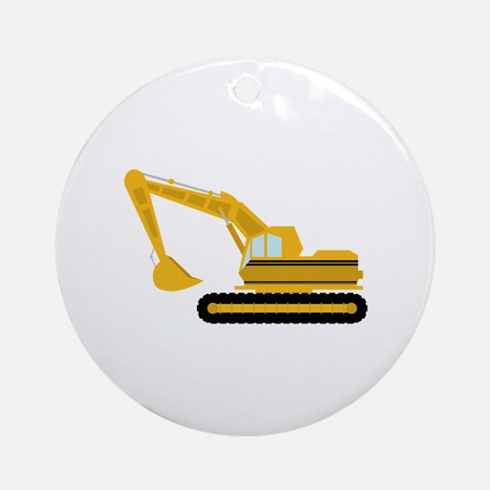 Excavator Ornament (Round)