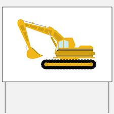Excavator Yard Sign
