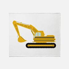 Excavator Throw Blanket