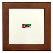 eritrea flag Framed Tile